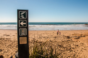 Surf Coast Walk Logo branded on a wooden post