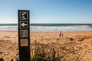 Surf Coast Walk Logo branded on a wooden post